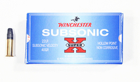 22 LR Subsonic 40gr HP 50ptr Winchester